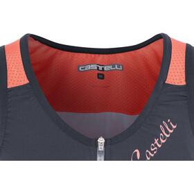 Castelli Solare Top Mujer, dark steel/blue/salmon